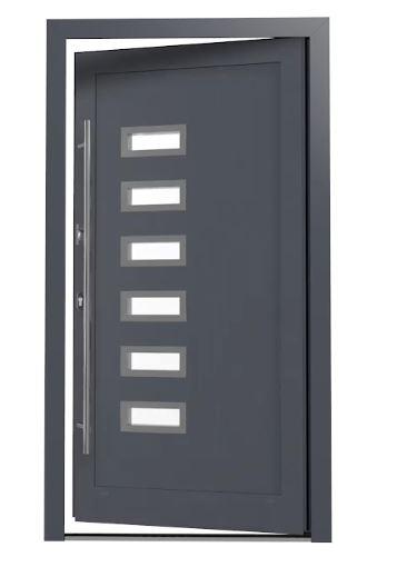 aluminium haust r megafenster24. Black Bedroom Furniture Sets. Home Design Ideas